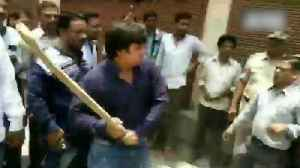 BJP MLA beats civic officer with cricket bat, video goes viral [Video]