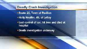Police investigating deadly crash in Town of Pavilion [Video]
