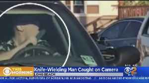 Caught On Video: Man Waves Knife, Licks It In Apparent Road Rage Incident [Video]