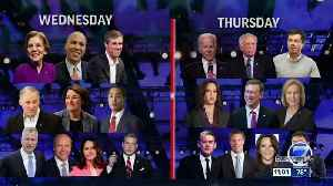 News video: Wednesday is Day 1 of the first Democratic debate