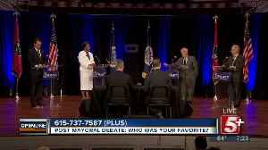 Post Mayoral Debate: Who was your favorite? p1 [Video]