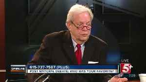 Post Mayoral Debate: Who was your favorite? p3 [Video]