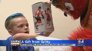 Young Boy Gets Visit From Philadelphia Flyers Mascot [Video]