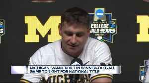 Michigan, Vanderbilt to play winner-take-all game for CWS title [Video]