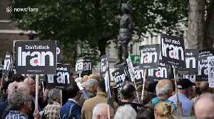 Activists protest outside Downing Street in London against war with Iran [Video]