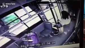 Chinese girl jumps out of moving bus after realising she boarded the wrong one [Video]