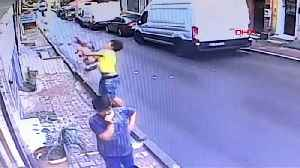 Teenager saves baby falling from second floor window in Istanbul [Video]