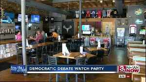 Nebraska watch party for first Democratic Debate [Video]