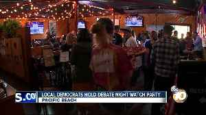 Local democrats hold debate night watch party [Video]