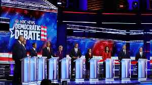 Democratic Presidential Candidates Take Stage For First Debate [Video]