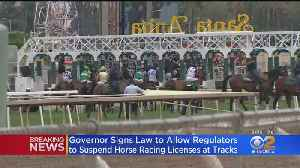 Newsom Signs Law Granting Racing Board Power To Suspend Santa Anita Park's License [Video]