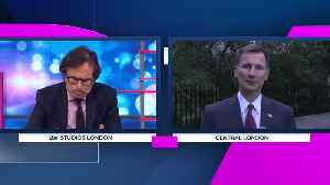 News video: Robert Peston Asks Jeremy Hunt About The Death Of His Sister