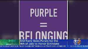 Old Navy Goes Purple For Fourth Of July [Video]
