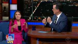 AOC Compares Notes on the 2020 Democratic Debate with Stephen Colbert [Video]