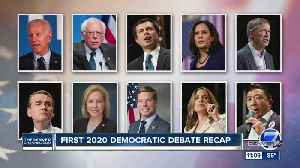 News video: Night 2 of Democratic debates will feature Colorado's Hickenlooper, Bennet