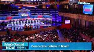 News video: Candidates battle over immigration, health care at Democratic debate in Miami