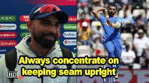 World Cup 2019 | Always concentrate on keeping seam upright while bowling: Shami [Video]