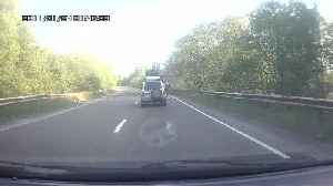 Two Cars Barely Avoid Head On Collision [Video]