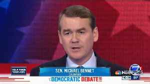 Second round of Democratic presidential candidates debating included Bennet, Hickenlooper [Video]
