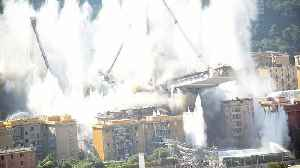 Watch: Italy's Genoa bridge destroyed in six second controlled explosion [Video]
