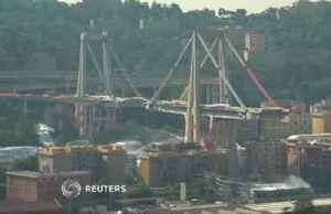 Controlled explosions demolish two pylons of Genoa bridge [Video]