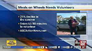 Meals On Wheels in need of volunteers in Pinellas Co. to deliver meals to homebound seniors [Video]
