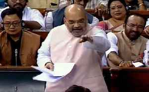 Watch: LS clears Amit Shah's 1st bill, also extends President rule in J&K [Video]