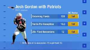 NFL Network's Nate Burleson: New England Patriots wide receiver Josh Gordon returning would give Pats second-best WR corps in NF [Video]