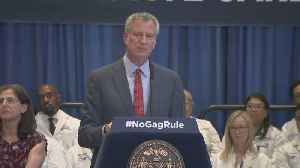 Mayor Bill De Blasio, NY Health Officials On Reproductive Health [Video]