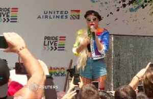'I would take a bullet for you:' Lady Gaga to Stonewall Pride revelers [Video]