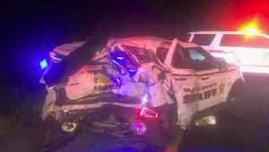 Driver hits two Martin County Sheriff's Office patrol cars on I-95, deputies not hurt [Video]