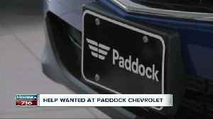 Interested in a job in the auto industry? Paddock Chevrolet is hiring. [Video]