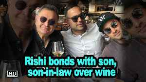 Rishi bonds with son, son-in-law over wine [Video]
