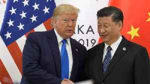 News video: Trump Says Trade Talks With China 'Back On Track'