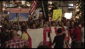 Tbilisi Demonstrators Show Government Yellow Cards as Protests Enter 8th Night [Video]