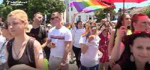 North Macedonia Holds Its First-Ever Pride Parade in Skopje [Video]
