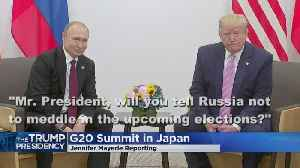 Trump In Japan From G-20 Summit [Video]