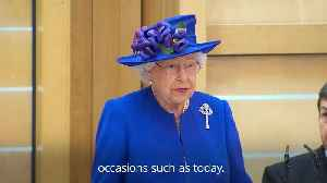 The Queen hails 'remarkable' Scottish Parliament as it marks 20 years of devolution [Video]