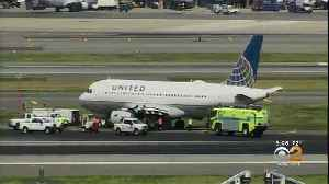 Plane Makes Emergency Landing At Newark Airport [Video]