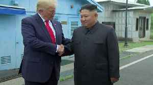 News video: Donald Trump steps into North Korea to meet Kim Jong Un