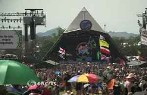 News video: Glastonbury's plastic bottle ban tested by hot weather