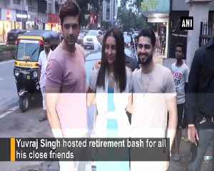 Celebrities attend Yuvraj Singh's retirement party in style [Video]