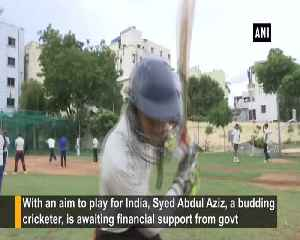 Budding cricketer from Hyderabad seeks aid from govt to represent India [Video]