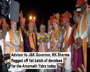 1st batch of pilgrims flagged off from Jammu base camp [Video]