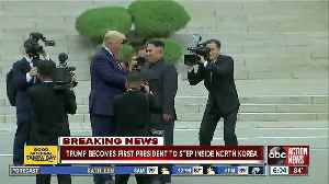 News video: Donald Trump becomes 1st sitting U.S. president to enter North Korea