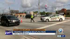 Broken power line disables traffic lights at Okeechobee Blvd. and Indian Road in West Palm Beach [Video]