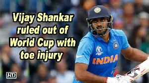 World Cup 2019 | Vijay Shankar ruled out of WC with toe injury [Video]