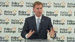 News video: Jeremy Hunt: 'It's time for some MoJo from BoJo'