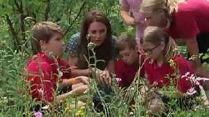Duchess of Cambridge visits Hampton Court Flower Show [Video]