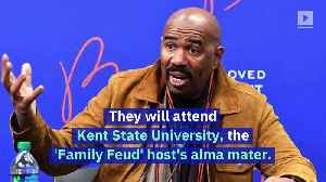 Steve Harvey Covers the Tuition for Eight College-Bound Students [Video]